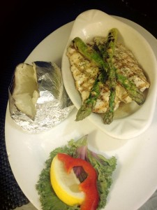Halibut With Asparagus